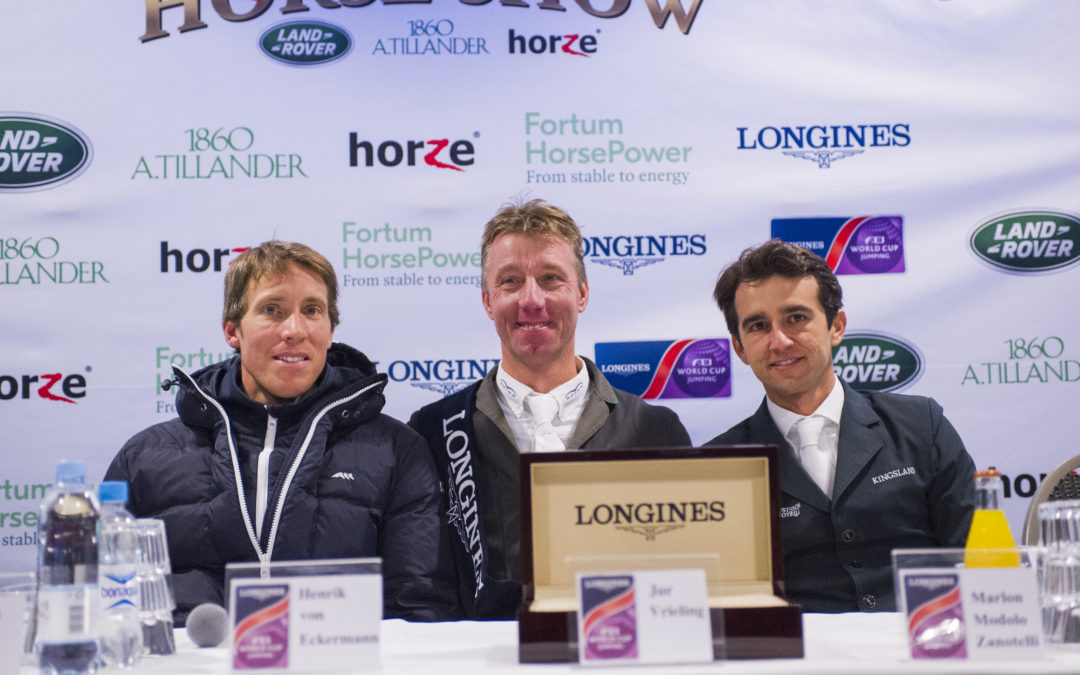 Jur Vrieling wins the second leg of Longines FEI World Cup™ Jumping in Helsinki