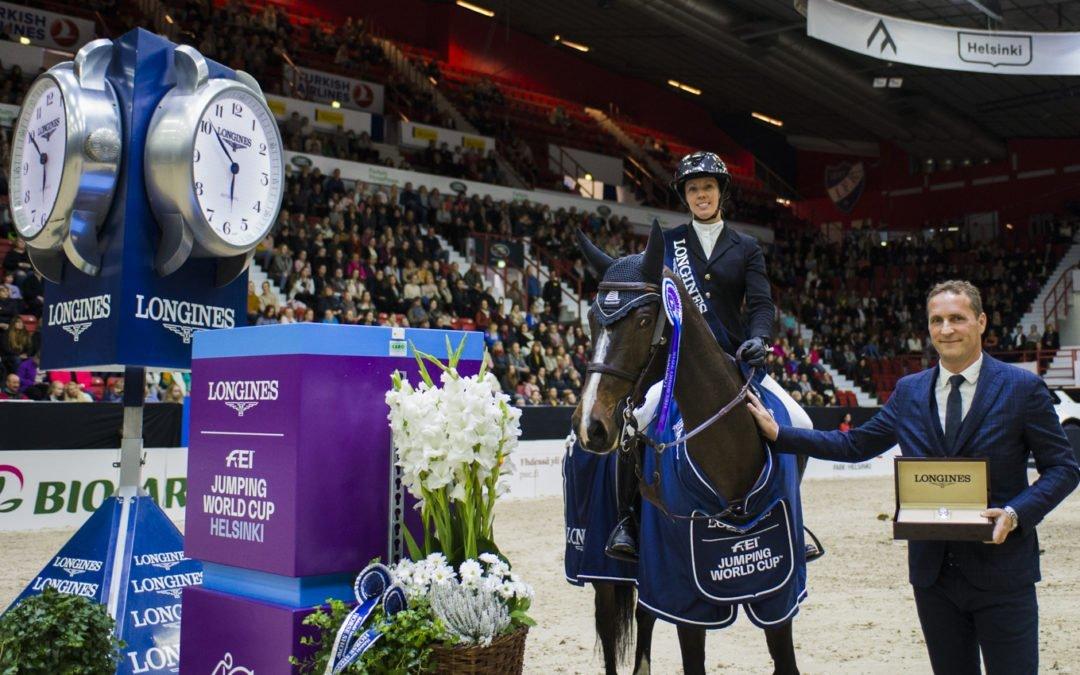 Gudrun Patteet voitti Helsingissä ensimmäisen maailmancupinsa