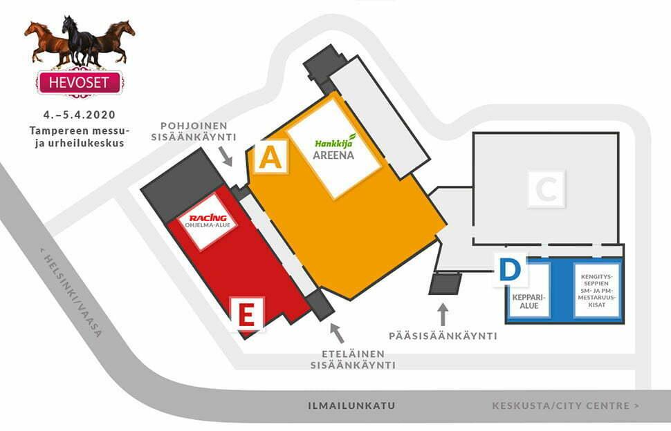 Hevoset2020 Kartta Helsinki International Horse Show